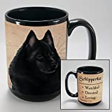 Dog Breeds (L-Z) Schipperke 15-oz Coffee Mug Bundle with Non-Negotiable K-Nine Cash by Imprints Plus (148)