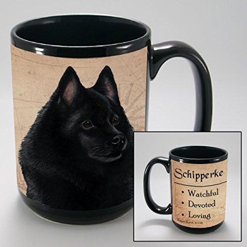 Dog Breeds (L-Z) Schipperke 15-oz Coffee Mug Bundle with Non-Negotiable K-Nine Cash by Imprints Plus (148)