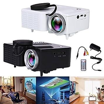 Hanbaili Mini proyector LCD, (EE. UU. Plug) Mini portátil ...
