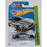 Hot Wheels, HW WORKSHOP TESLA MODEL S 217/250, Long Card by Mattel