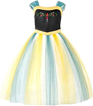 Girls Princess Costume Dress Ice Snow Queen Halloween Party Cosplay for Kids Baby Toddler Little Child