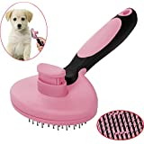 Pawaca Pet Grooming Brush for Dogs and Cats, Easy Self Cleaning Slicker Brush Deshedding Tool, Reduces Shedding, Removes Tangles, Cleans, De Sheds, Loose Hair