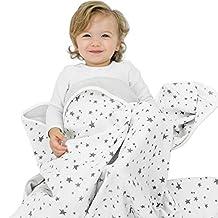 "Woolino Toddler Blanket, Merino Wool, 4 Season Dream Blanket, 52.5"" x 40"", Gray Stars"