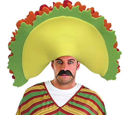 Funky Fresh Taco Adult Foam Costume Hat - One Size Yellow -