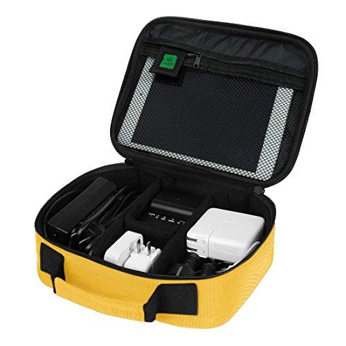 BAGSMART Electronics Travel Organizer Case Bag, Yellow