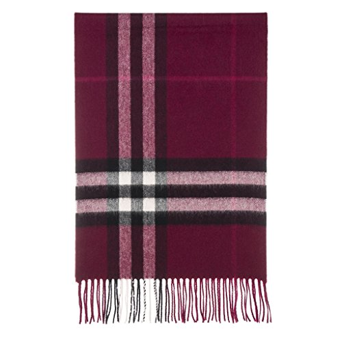 Burberry Women's Classic Check Scarf Plum