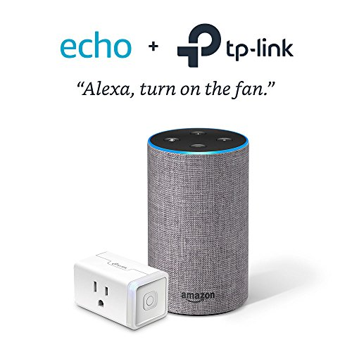 Echo (2nd Generation) - Heather Gray with TP-Link Smart Plug Mini by Amazon