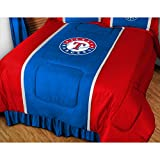 "Texas Rangers MLB ""Side Lines"" Collection Bed Comforter"