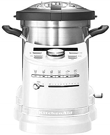 KitchenAid 5 5KCF0103EFP/4 Artisan - Robot de cocina artesanal blanco con función de cocción, 1500 vatios: Amazon.es: Hogar