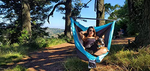 CHILLOUT POD – Double Camping Hammock – Lightweight Nylon, Portable Hammock For Backpacking, Camping, Travel, Beach, Hiking