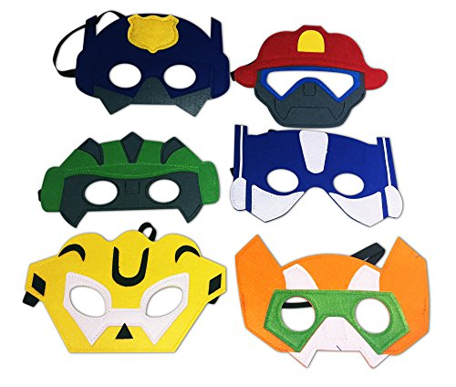 Costume Hero Party Rescue Bots Favors Dress Up Masks Birthday Pretend Costumes Set of 12