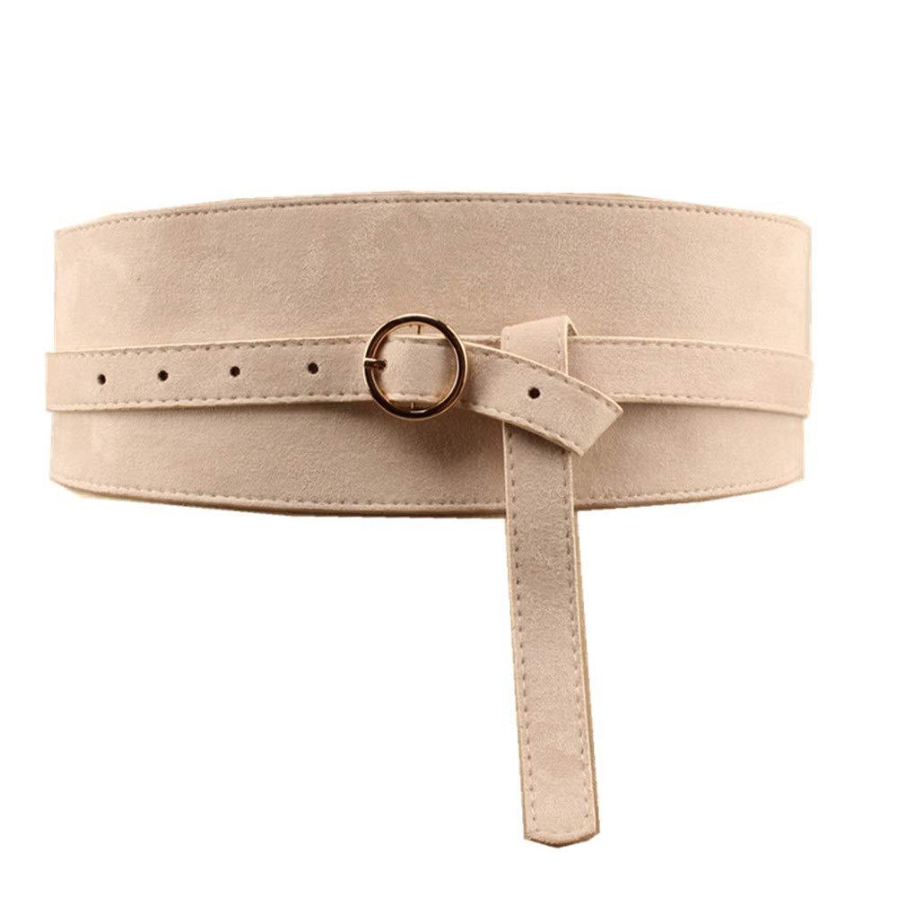 Beige Ladies Waist Belt PU Leather Belts for Women Brown Waist Sash,Women Pgoldus Belt,Women Pants Belt Womens Belt Solid color Pin Buckle (color   Brown)