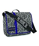 JanSport Market Street Messenger Bag (White/Black Cosmo Zebra/Primal Purple)