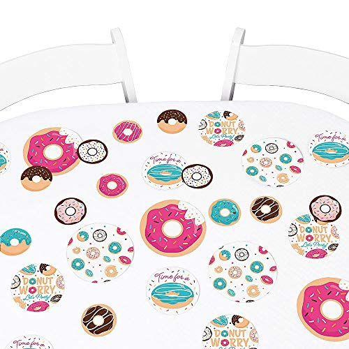 - Big Dot of Happiness Donut Worry, Let's Party - Doughnut Party Giant Circle Confetti - Party Decorations - Large Confetti 27 Count