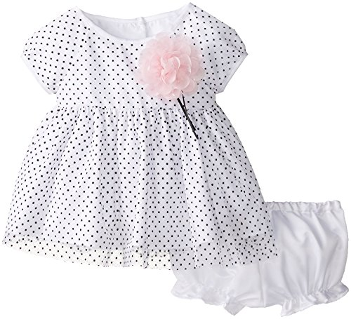 Marmellata Baby-Girls Infant Dotted Mesh Dress, Pink, 0-3 Months (Dotted Dress Pink)