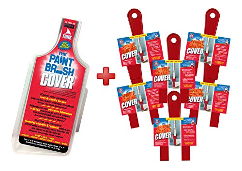 The Spindle Painting Cover (Value Set of 6) + Bonus Angled Paint Brush Cover