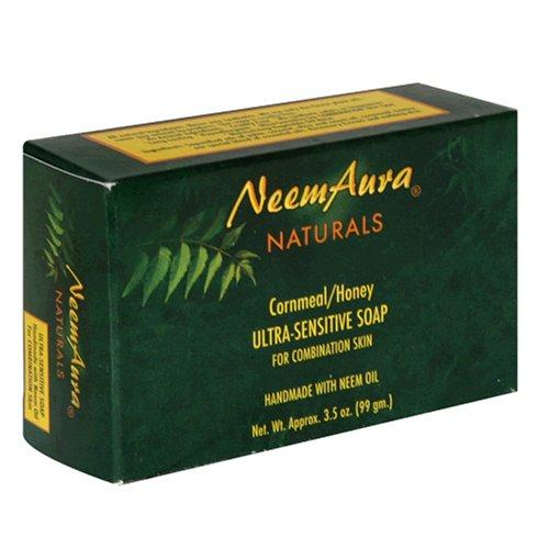 Neemaura Naturals Ultra Sensitive Soap, Cornmeal And Honey, 3.5 oz (99 g)
