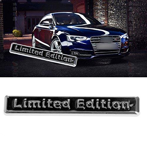 Bottone 3D Metal Limited Edition Car Trunk Fender Bumper Emblem Sticker Decal Auto Trim Badge (Black)