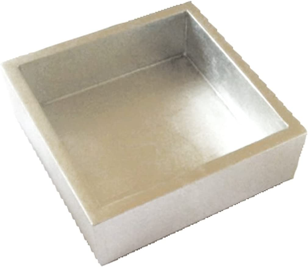 Caspari - Lacquer Flat Napkin Holder For Kitchn or Dining Room, Silver