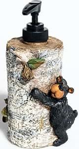 """Willie Black Bear Liquid Soap Dispenser, 7"""""""