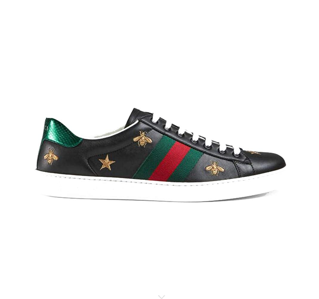 3b399f8222 Amazon.com | Gucci Ace Leather Embroidered Sneakers | Fashion Sneakers