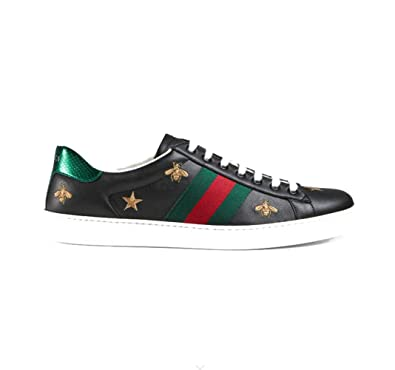 0e0f5f927 Amazon.com | Gucci Ace Leather Embroidered Sneakers | Fashion Sneakers