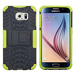 Multi Layer Ultra Durable Rugged Heavy Duty Case / Cover for Samsung Galaxy S6 Phone (Neon Green) by ruishername
