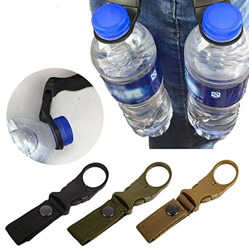 Bianchi Portable Water Bottle Clip Outdoor Camping Hiking Climbing Tools Black
