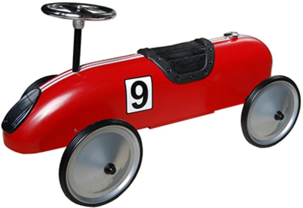 CAPRILO Juguete Infantil Decorativo de Metal CORRESPASILLOS Racing Rojo . Juguetes y Juegos de Colección. Regalos Originales para Navidad, Reyes o Cumpleaños. Decoración Clásica.