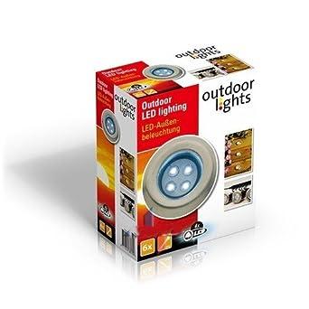 Lot De 6 Spots Lampe Led Pour Terrasse Jardin Encastrable Encastrer