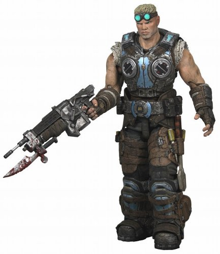 Gears of War NECA 3 Series 2 Action Figure Damon Baird Lancer, Wrench Screwdr...