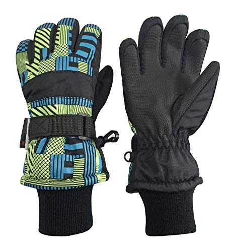 N'Ice Caps Kids Thinsulate Waterproof Geo Print Winter Ski Gloves...