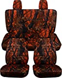 Totally Covers Fits 2011-2018 Jeep Wrangler JK Camo Seat Covers: Orange Real Tree Camouflage - Full Set: Front & Rear (19 Prints) 2012 2013 2014 2015 2016 2017 2-Door/4-Door Complete Solid/Split Bench