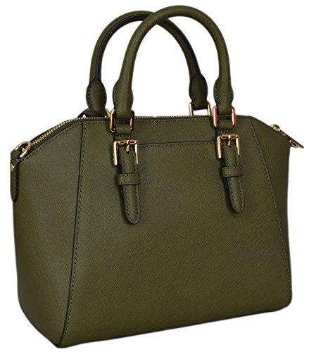 53d50b9ec5db Michael Kors Ciara Medium Studded Messenger Bag Olive Green ...