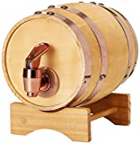 Reward Men's Tabletop Vintage Looking Wine Barrel Dispenser