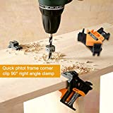 90 Degree Angle Clamp with Free Gloves,VIGRUE 4PCS