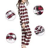 Cotton Pajama Sets with Classic Lattice Medium