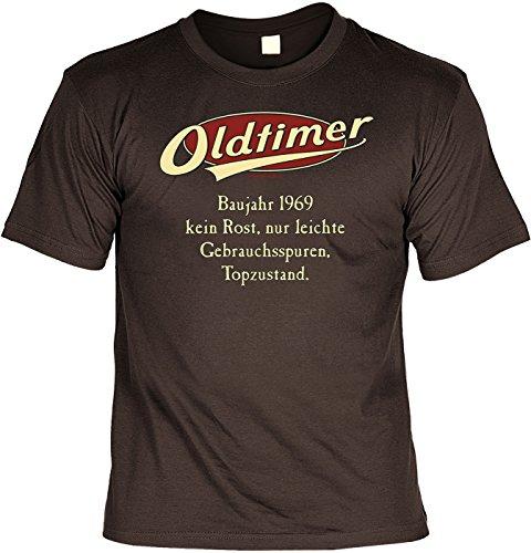 T-Shirt mit Urkunde - Oldtimer Baujahr 1969 - lustiges Sprüche Shirt als Geschenk zum 48. Geburtstag - NEU mit gratis Zertifikat!