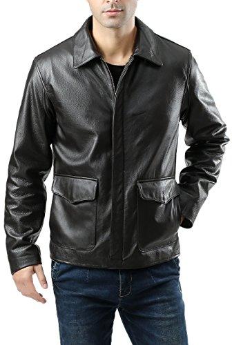 Landing Leathers Men's Voyager Indy-Style Goatskin Leather Adventurer Jacket - XL (Raiders Leather Jacket)