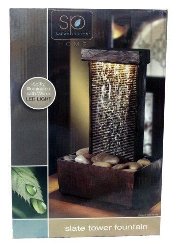 Fountain Medium Lightweight Slate - Sarah Peyton Home Slate Tower Fountain