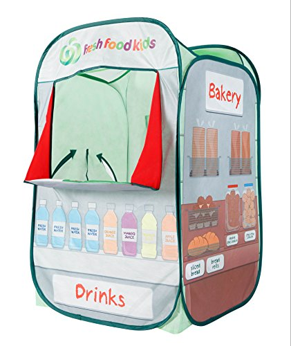 Alvantor Kids Tent Drinks & Bakery Puppet Theater Kitchen Play-House Indoor and Outdoor Grocery Market Pop Great Game and Toy for Gift for Children Fun, Multicolor, 26
