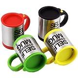 Die selbstrührende Tasse Lazy Mug by Sunshine D Creations Elektrische Becher Twister Mug Rot