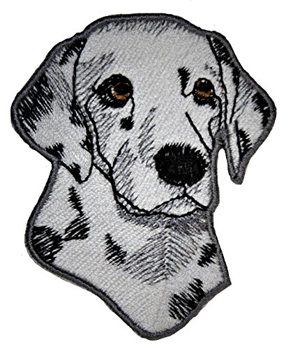 Embroidery Dalmatian (A-10, Dalmatian Dog Patch Animals Embroidered Iron on Pieces Applique Patch Dog Approx. 2.3 x 2.8 inches (6 x 7.2 cm))