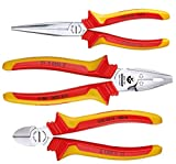 Gedore VDE S 8003 H Vde Pliers Set with Vde Insulating Sleeves (Pack of 3)