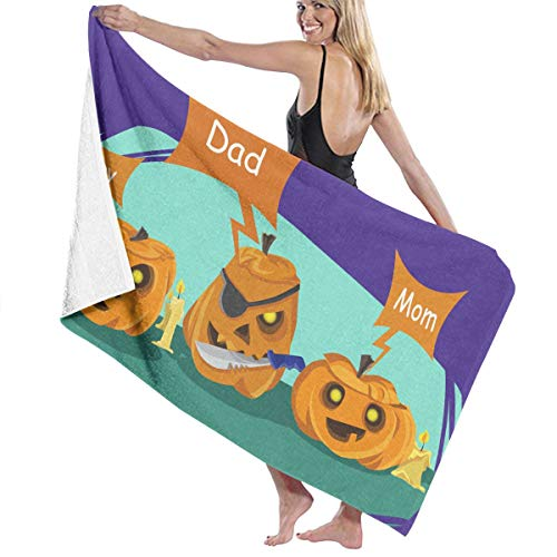 Dad Halloween Pumpkin Costume Prints Bath Towel Wrap