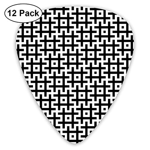Black and White Hashtags Sign Symbol Guitar Pick 0.46mm 0.73mm 0.96mm 12pack,Suitable for All Kinds of Guitars Merchandise Ornament Accessory Products