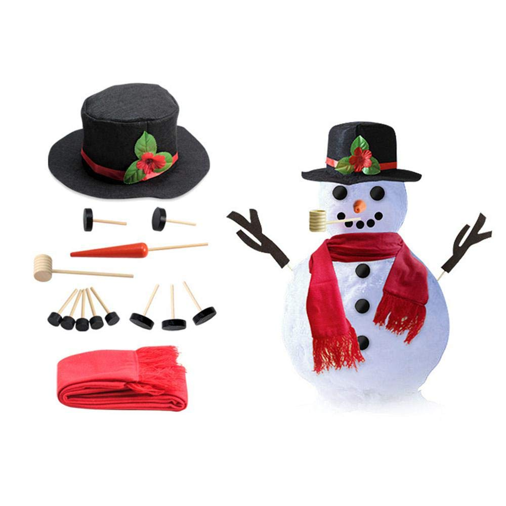 Amazoncom Kobwa Snowman Kit Includes Hat Scarf Wooden Carrot
