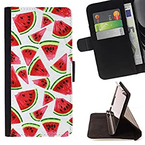 Jordan Colourful Shop - watercolor white fruit red For Sony Xperia Z1 L39 - Leather Case Absorci???¡¯???€????€?????????&At