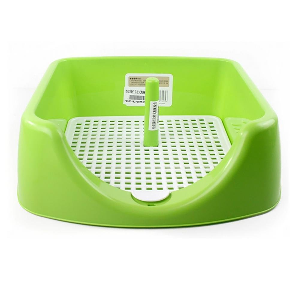 Green DAN Portable Plastic Toilet for Puppy Indoor Dog Toilet with Fenced for Small Dogs Training Pet Pad