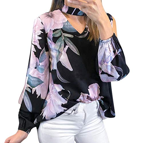 Price comparison product image Alimao 2018 Autumn Women's Tops Floral Printing V-Neck T-Shirt Irregular Ladies Tops Blouse